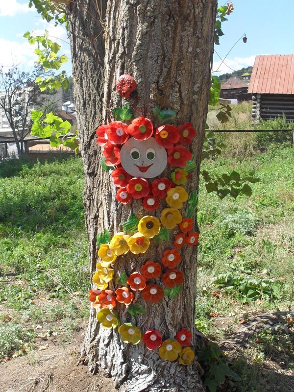 Оформление участков в детском саду своими руками из дерева